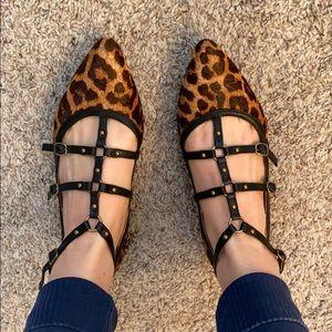 New Corso Como Leopard Print Flats
